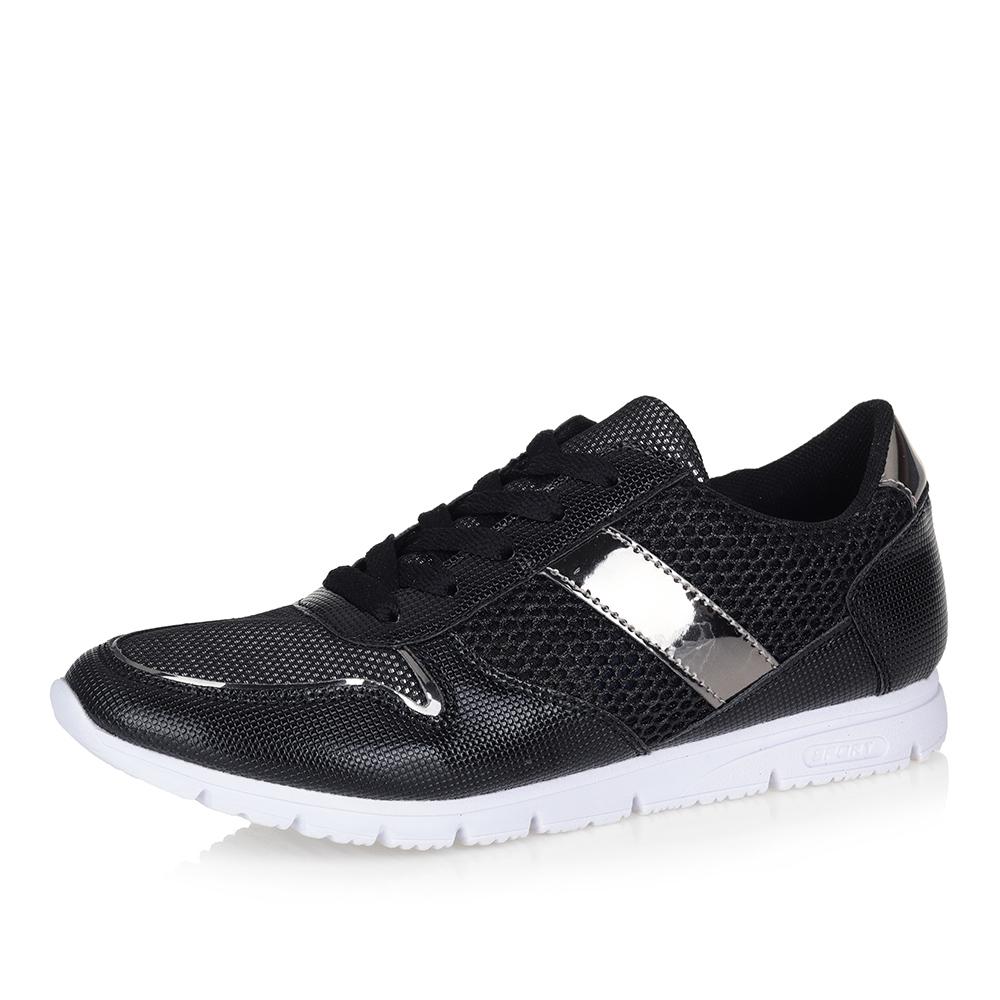 Фото #1: Комбинированные кроссовки в черном цвете