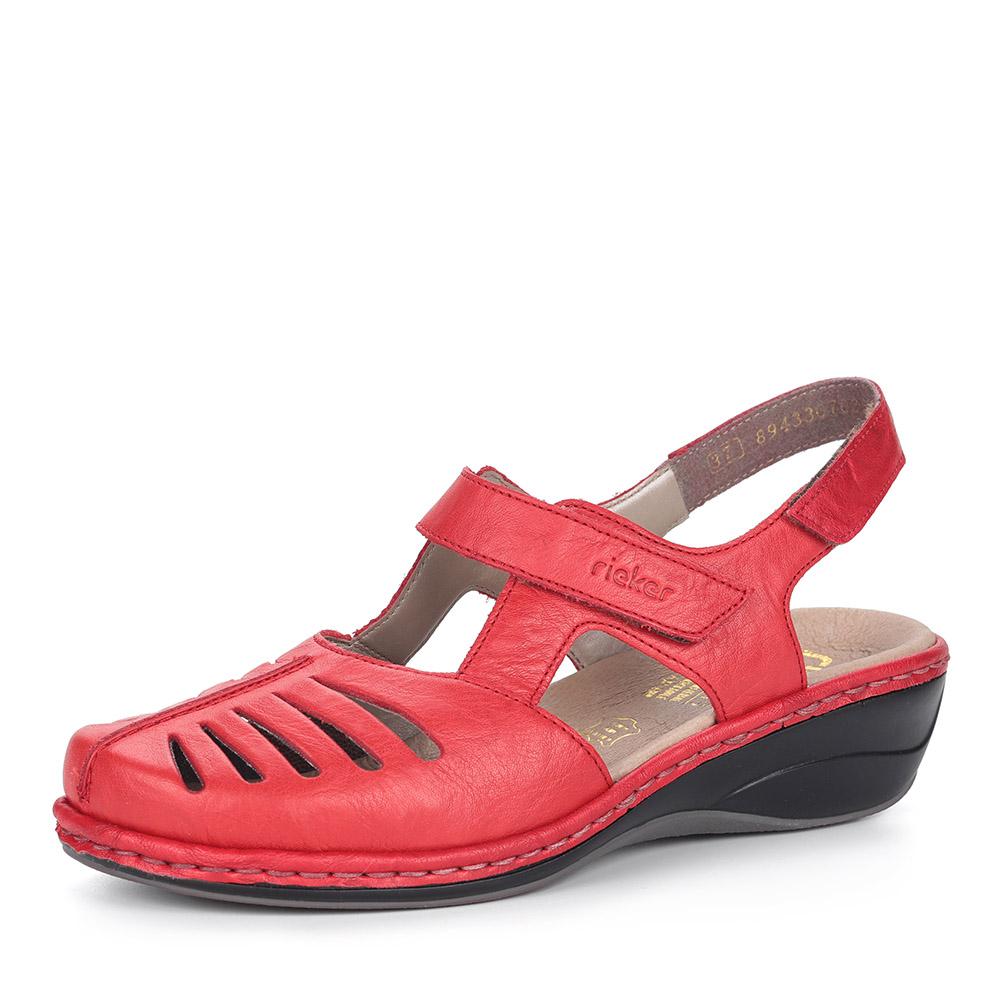 Бордовые туфли на танкетке от Rieker