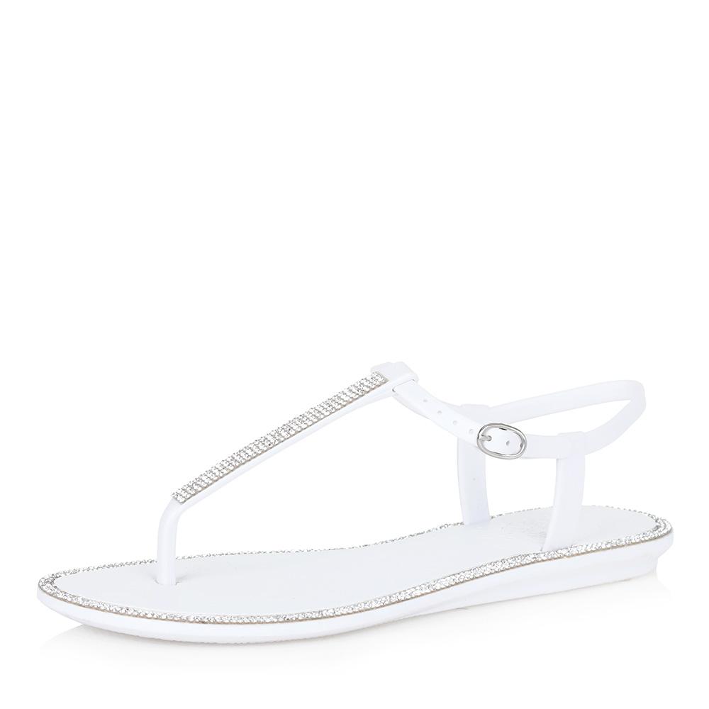 Белые пластиковые сандалии фото