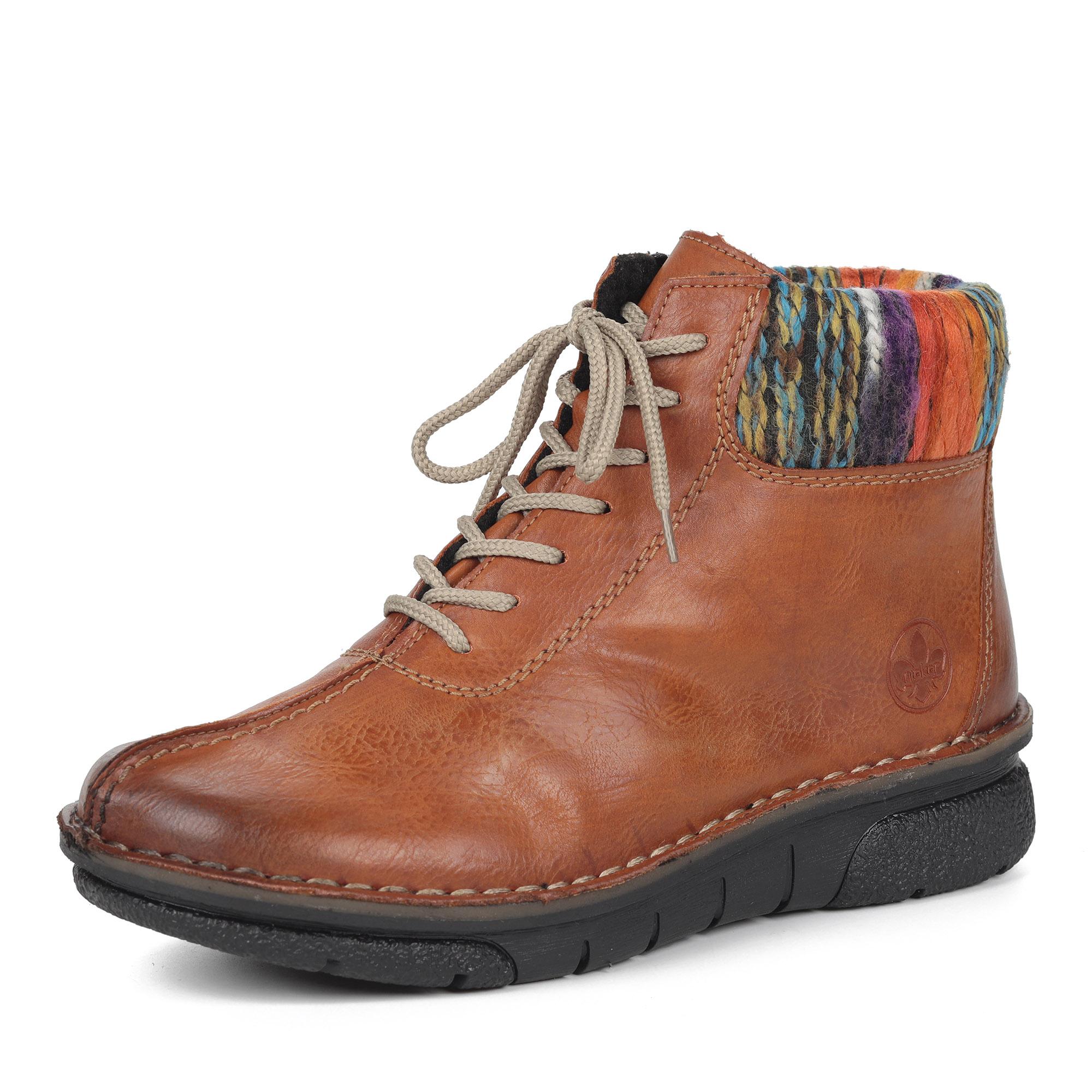 Коричневые ботинки из экокожи на шерсти