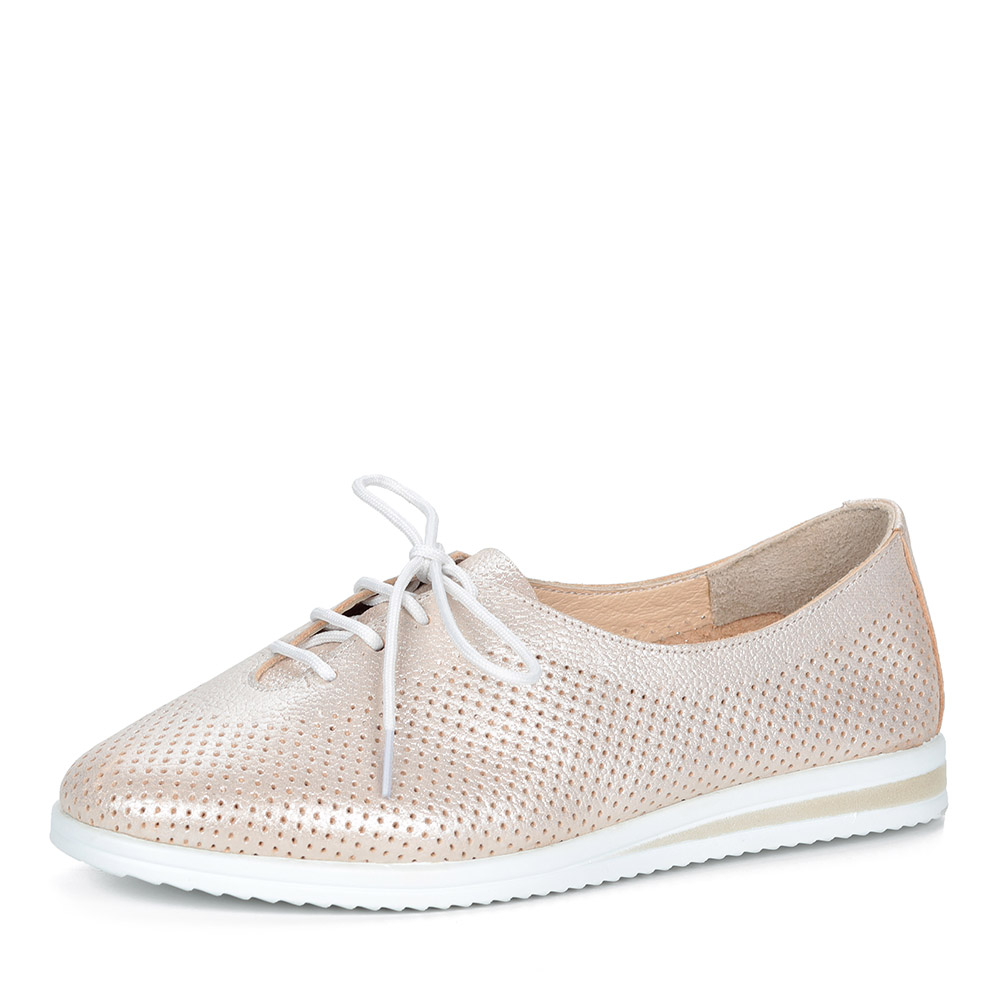 Золотистые комфортные туфли