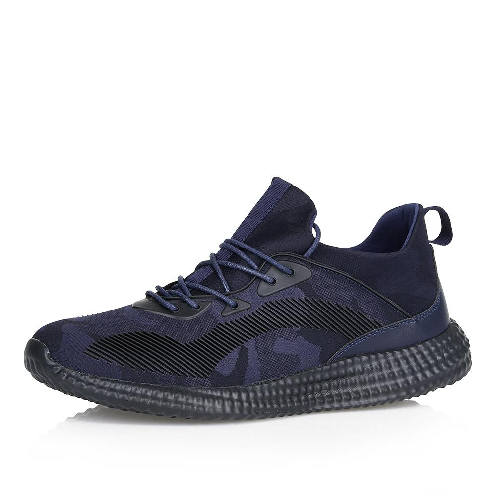 Текстильные кроссовки в синем цвете фото