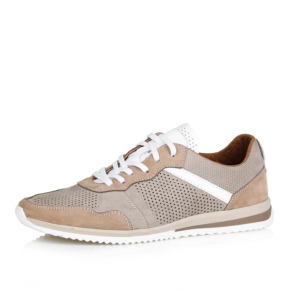 Бежевые кроссовки с белыми деталями фото