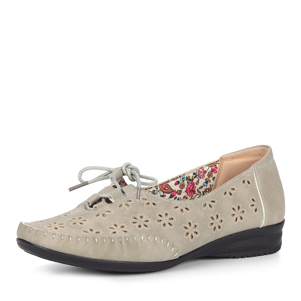 Серые туфли с декором