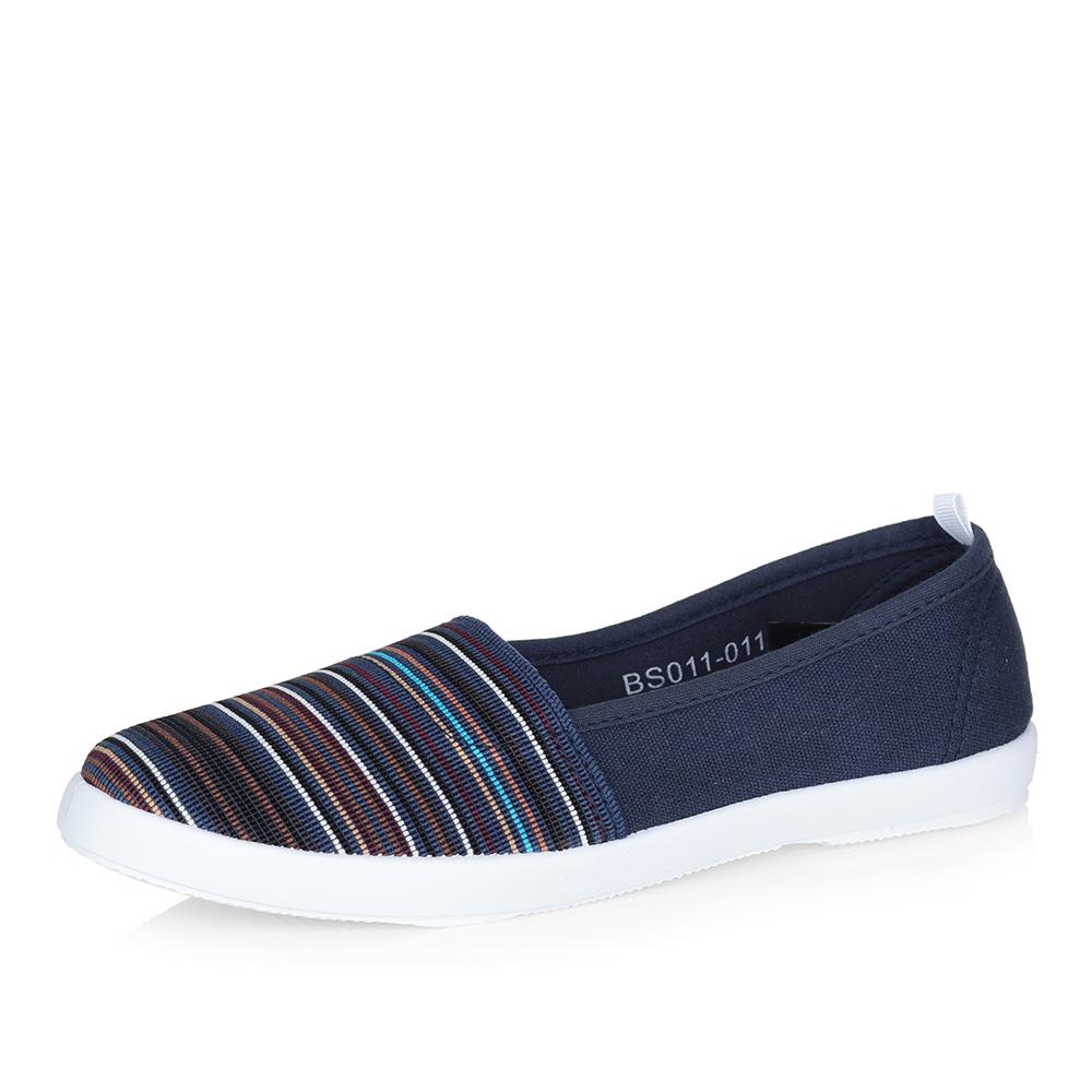 Полосатые текстильные туфли фото