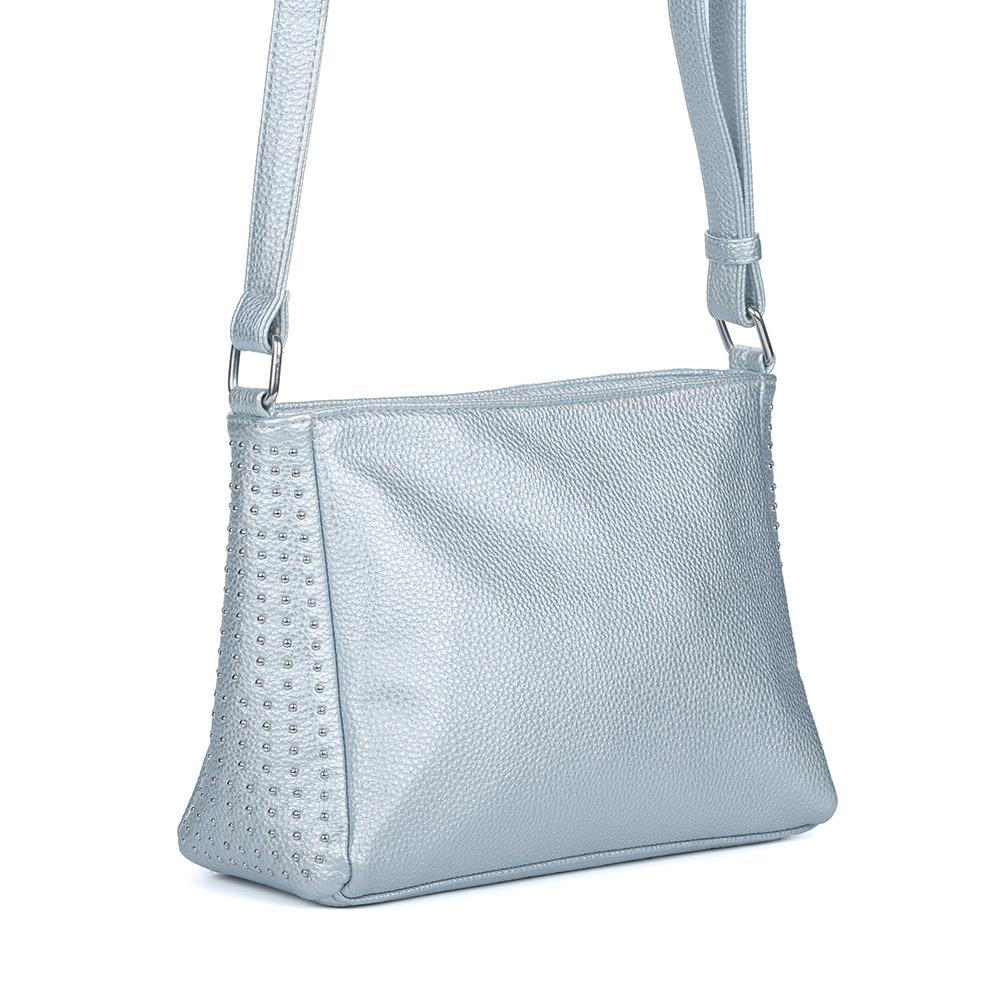 Фото - Голубая сумка через плечо от Angelo vani цвет голуб.