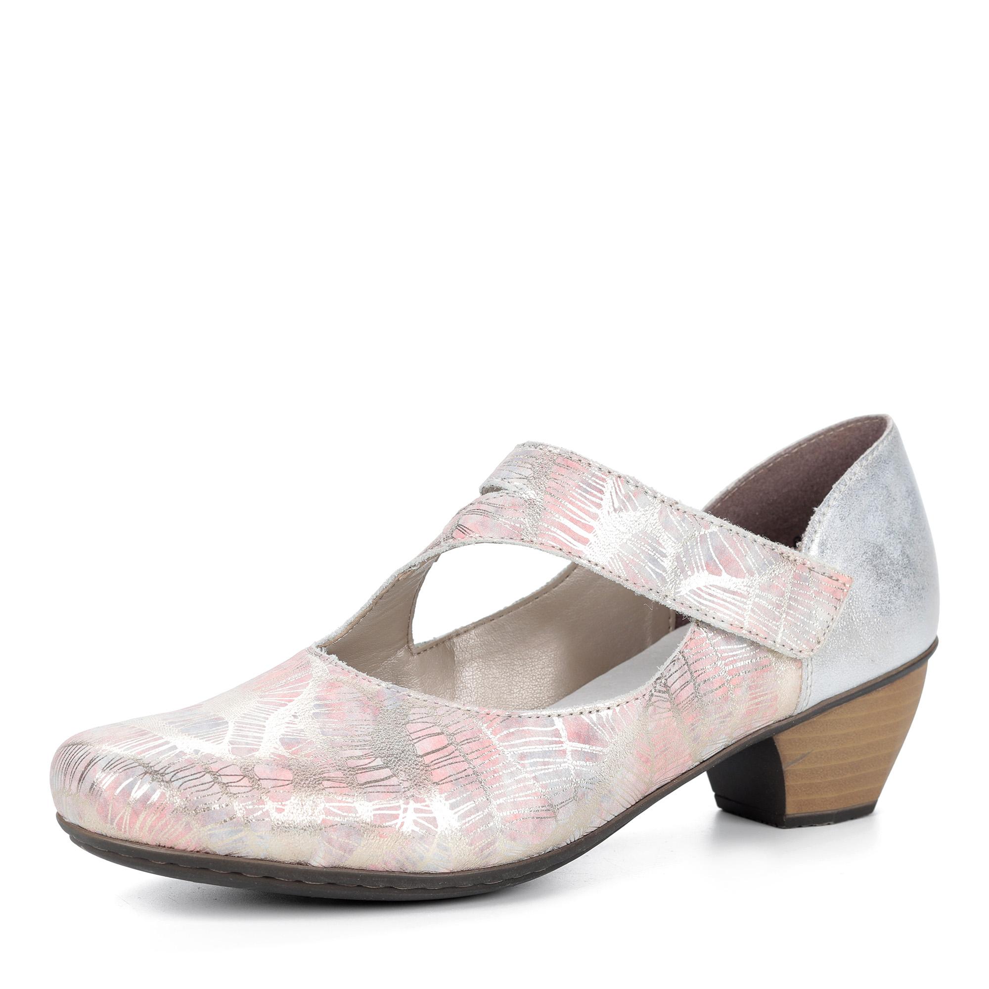 Туфли с декоративным ремешком из эко кожи