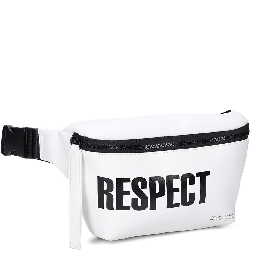 Белая спортивная поясная сумка