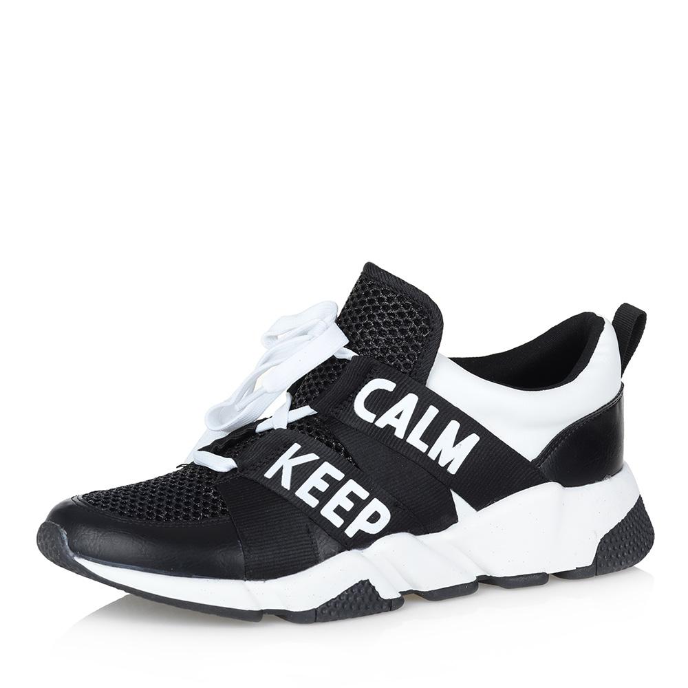 Черно-белые кроссовки с надписями фото