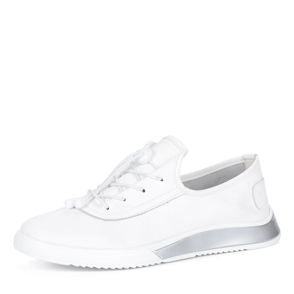 Белые полуботинки из кожи на шнуровке