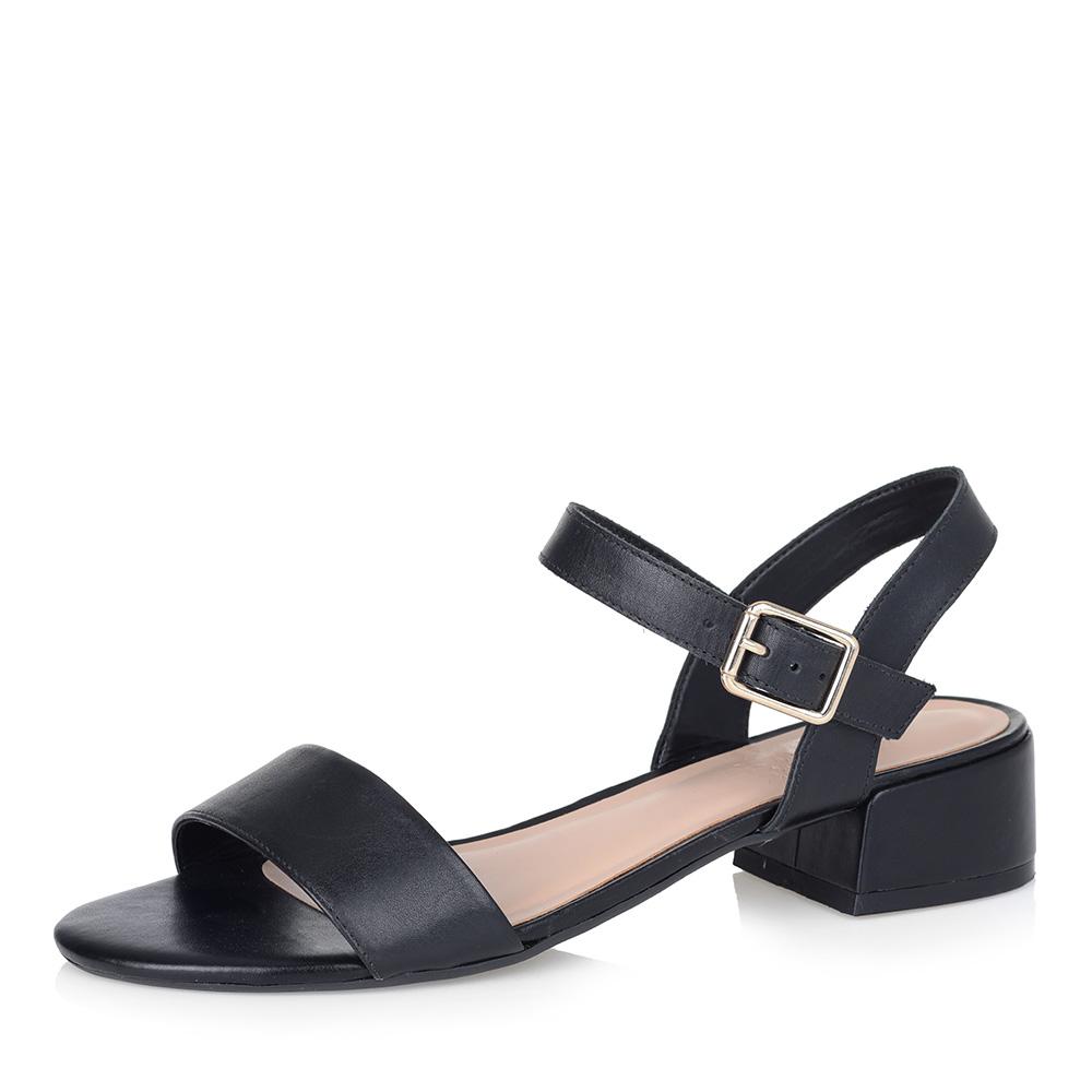 Черные босоножки на низком каблуке фото