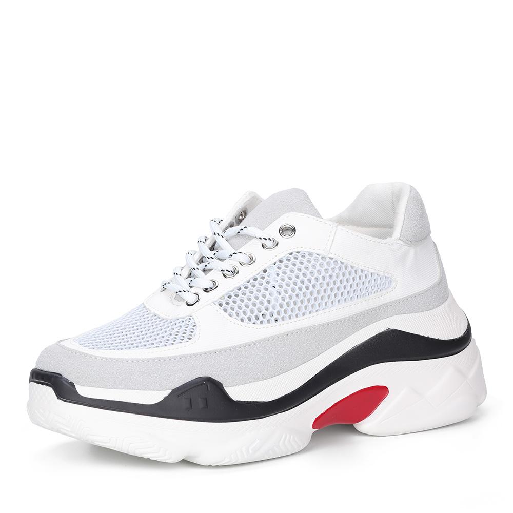 Белые кроссовки на массивной подошве фото