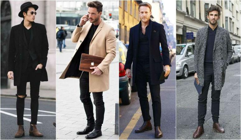 С чем одевать мужские ботинки челси